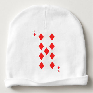 9 of Diamonds Baby Beanie