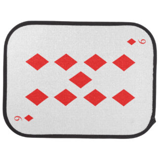 9 of Diamonds Car Mat