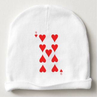 9 of Hearts Baby Beanie
