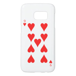 9 of Hearts Samsung Galaxy S7 Case