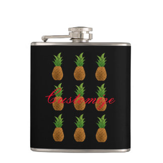 9 pineapples Thunder_Cove Hip Flask