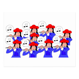 9 Pipers Piping Postcard