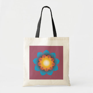 9-Point Lotus Flower Tote Bag
