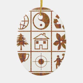 9 symboles font à de grands ENFANTS LE CADEAU de Décoration Pour Sapin De Noël