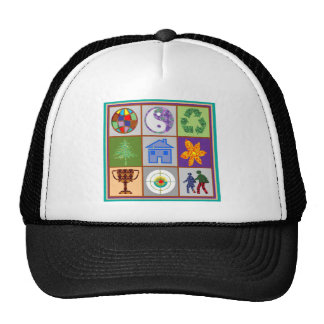 9 Symbols KIDS Story Engage Motivate Inspire GIFTS Mesh Hat