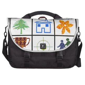 9 SYMBOLS make KIDS motivation conversation story Laptop Commuter Bag