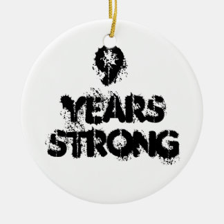 9 Years Strong Recovery Ceramic Ornament