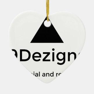 9Dezigns Millennial and Retro Gear Ceramic Heart Ornament