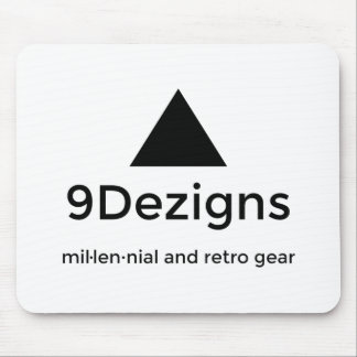 9Dezigns Millennial and Retro Gear Mouse Pad
