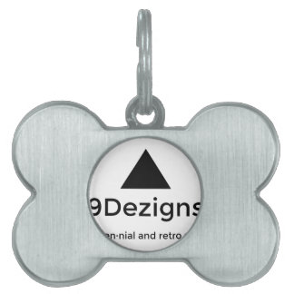 9Dezigns Millennial and Retro Gear Pet ID Tag