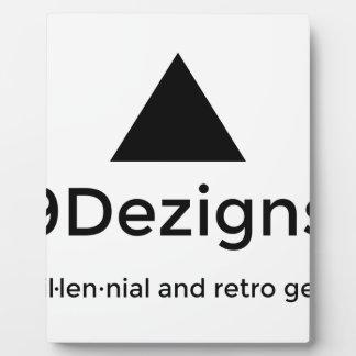9Dezigns Millennial and Retro Gear Plaque