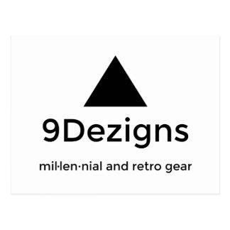 9Dezigns Millennial and Retro Gear Postcard