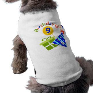 9ème anniversaire de garçons vêtement pour chien
