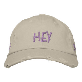 9f. Hey Batter, Batter Embroidered Baseball Caps