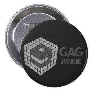 9gag junkie logo in cube 3 inch round button