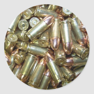 9mm ammo Ammunition Classic Round Sticker
