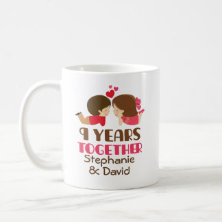9th Anniversary Personalized Mug Gift