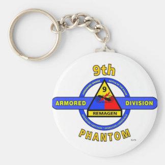 "9TH ARMORED DIVISION ""PHANTOM"" DIVISION KEY CHAINS"