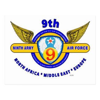 "9TH ARMY AIR FORCE ""ARMY AIR CORPS"" WW II POSTCARD"