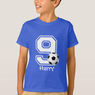 9th Birthday boy soccer personalized-2 T-Shirt