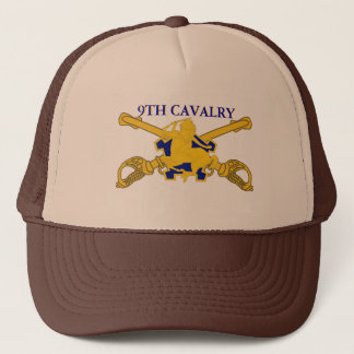 9TH CAVALRY HAT WITH DUI - CROSSED SABERS DESIGN