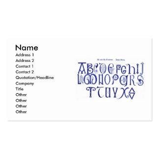 9th Century Alphabet Business Card
