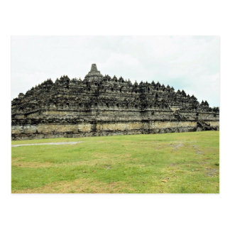9th century Borobudur, Buddhist Stupa, Java, Indon Postcard