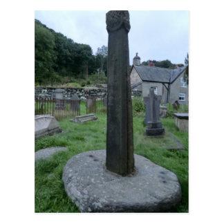 9th Century Preaching Cross, Corwen, Wales Postcard