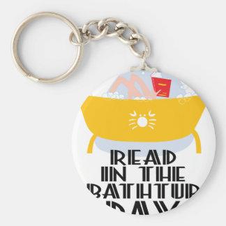9th February - Read In The Bathtub Day Basic Round Button Keychain