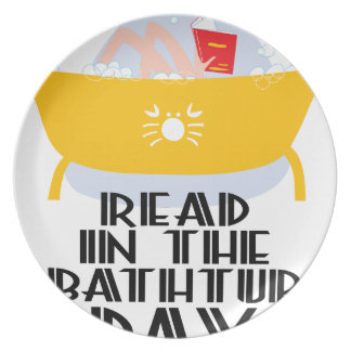 9th February - Read In The Bathtub Day Plate