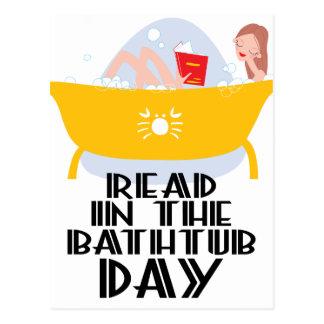 9th February - Read In The Bathtub Day Postcard