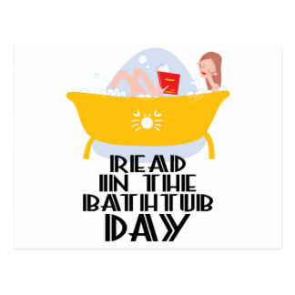 9th February - Read In The Bathtub Day Postcard