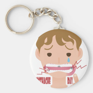 9th February - Toothache Day - Appreciation Day Basic Round Button Keychain