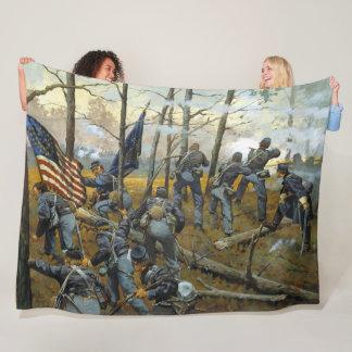 9th ILLINOIS at SHILOH Fleece Blanket