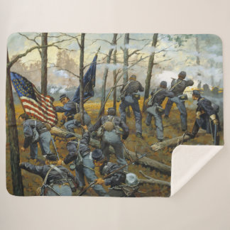 9th ILLINOIS at SHILOH Sherpa Blanket