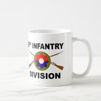 9th Infantry Division - Crossed Rifles - With Text Coffee Mug