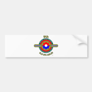"9TH INFANTRY DIVISION ""OLD RELIABLES"" BUMPER STICKER"