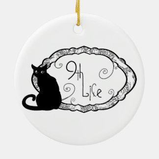 9th Life Ceramic Ornament