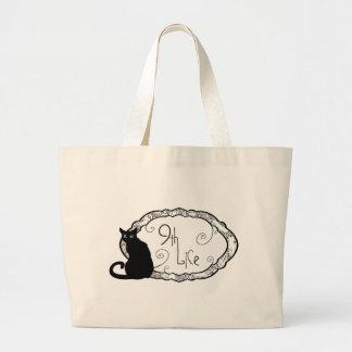 9th Life Large Tote Bag