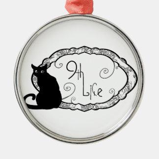 9th Life Metal Ornament