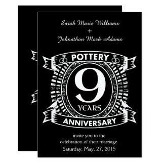 9TH wedding anniversary pottery Card
