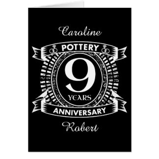 9TH wedding anniversary pottery Card