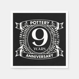 9TH wedding anniversary pottery Disposable Napkin