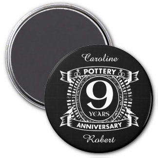 9TH wedding anniversary pottery Magnet