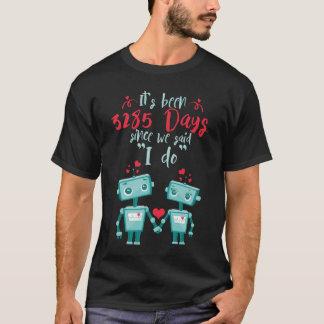 9th Wedding Anniversary Shirt.Cute Gifts T-Shirt