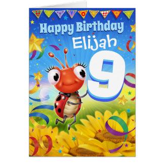 9yrs Custom birthday card Little Ladybug range