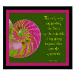 A001 Chambered Nautilus - Possibilities Quote Poster