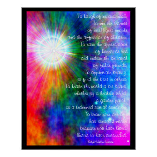 A001.To Laugh Often and Much. - Frameable Print.2 Poster