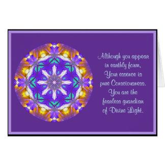 A01 Kaleidoscopic Mandala Floral Design.4 Card
