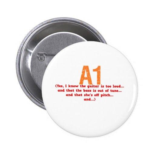 A1 Description Pinback Buttons